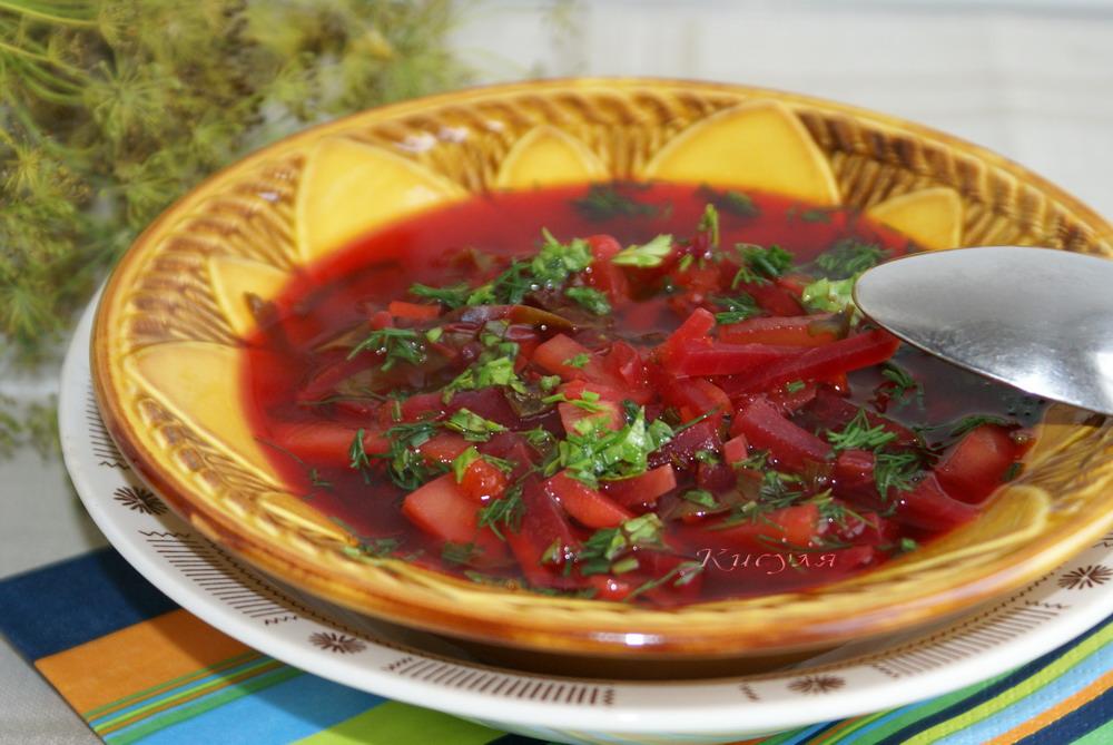 красный борщ со свеклой рецепт с фото несколько