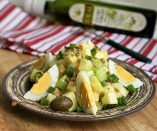 ирландский салат из картофеля с яблоками