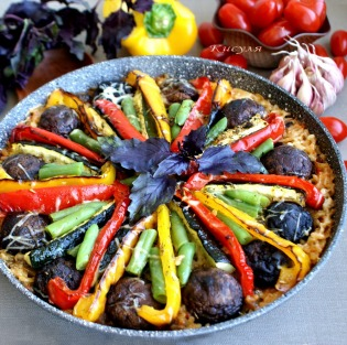 vegetable paella, Italian style