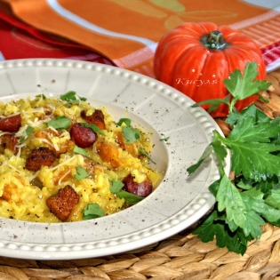 spicy risotto with pumpkin