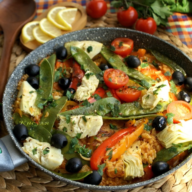 Vegetable paella by Yotam Ottolenghi from