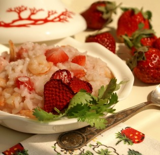 strawberry risotto with shrimp