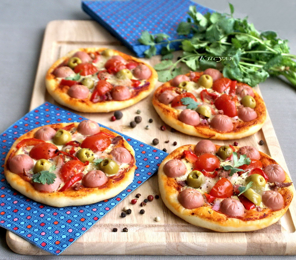 mini pizzas