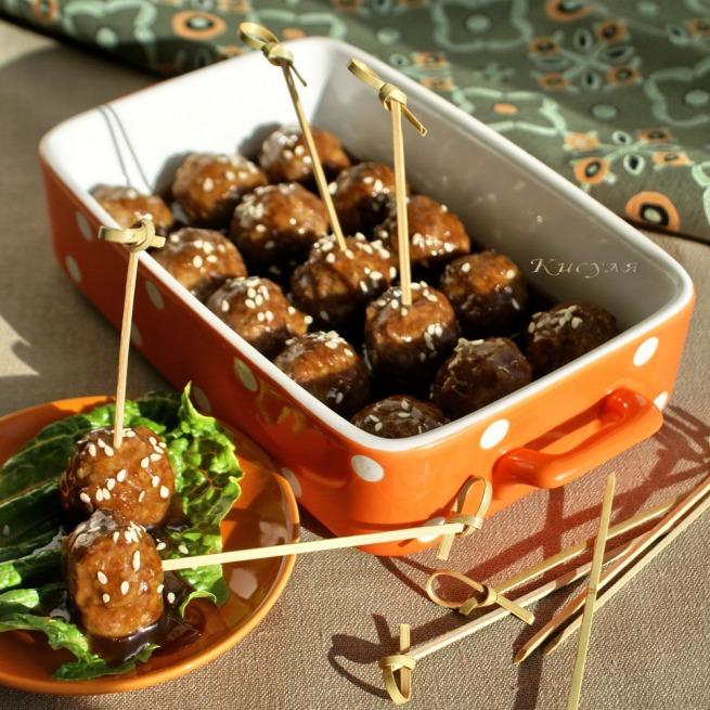 meat balls teriyaki