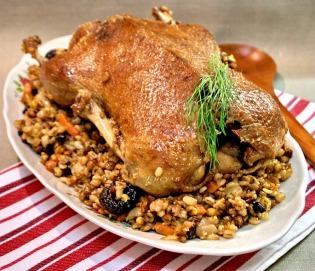 festive porridge with duck