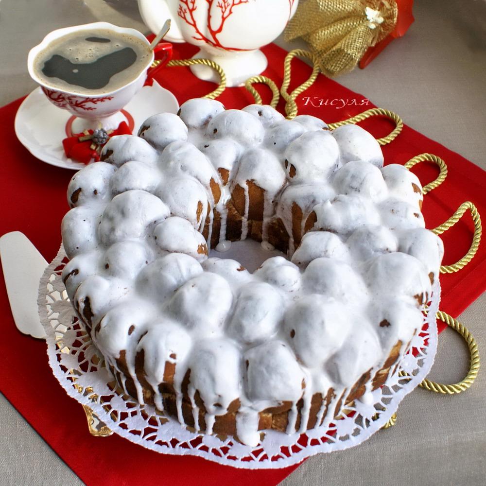 Мраморный пирог с корицей