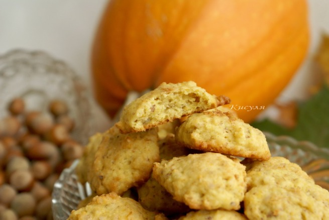 тыквенно-ореховое печенье