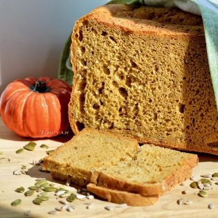 pumpkin bread with seeds and nuts