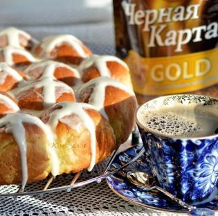 Orange scones with milk glaze