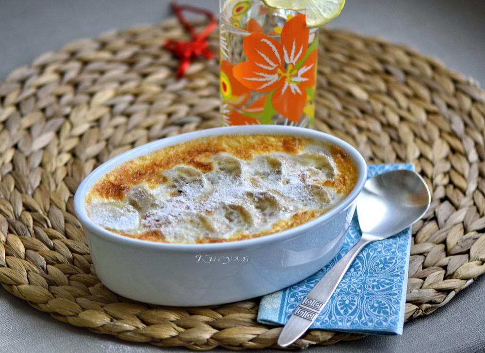 Cambodian banana rice pudding