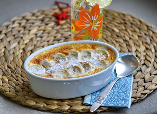 Cambodian banana rice pudding