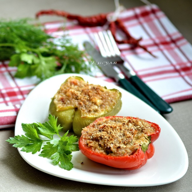 peppers stuffed with feta cheese
