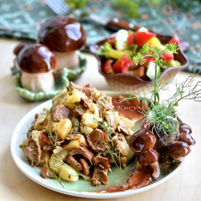 zucchini ragout with chanterelles