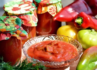 Lecho with apples